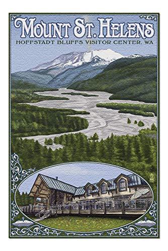 Hoffstadt Visitor Center - Mount St. Helens, WA (20x30 Premium 1000 Piece Jigsaw Puzzle, Made in USA!)