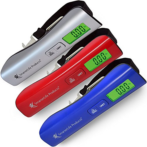 Digital Luggage Scale for Travel - Accurate, Premium Quality, Large LCD Display - Storage Pouch