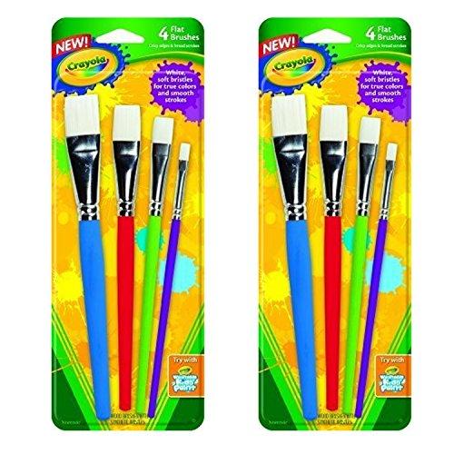 Crayola Big Paint Brushes Flat (2-Pack of 4)