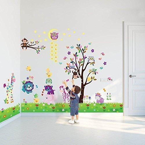 128 opinioni per Walplus- 3 set di adesivi da parete per cameretta dei bambini: mod. DF5099