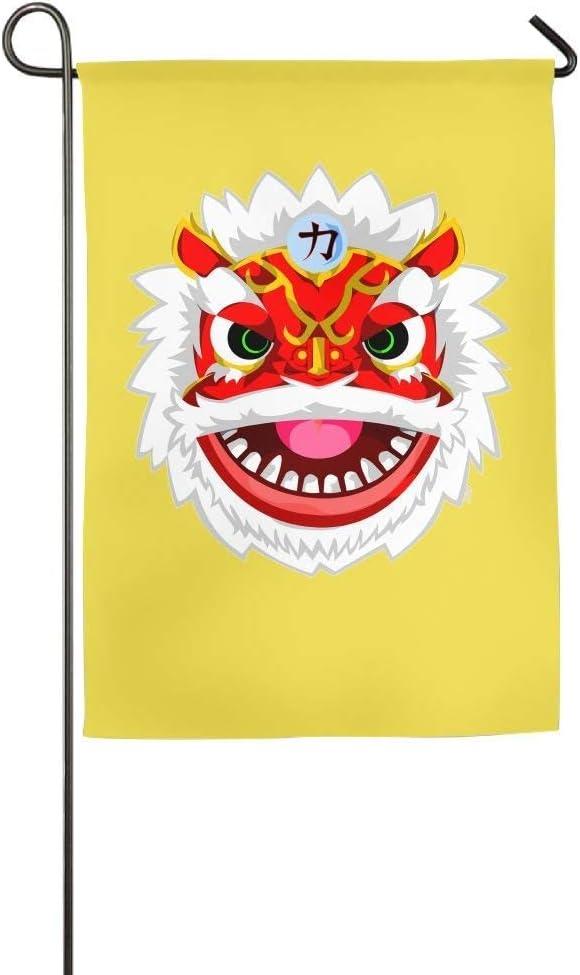 YATELI Pingshoes Resistencia al Desgaste Danza del león Temporada China Patio Patio Casa Jardín Banderas 12x18 Pulgadas Banderas de Fibra de poliéster Semitransparente: Amazon.es: Jardín