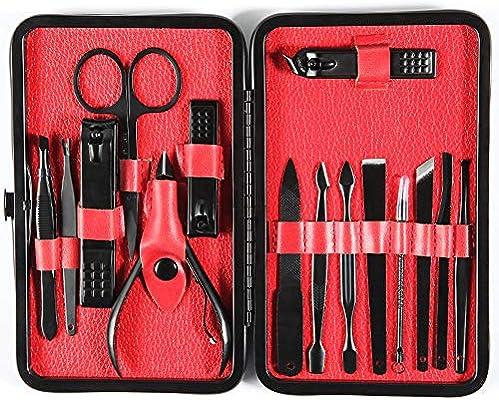 Cortaúñas, Set de herramientas de pedicura para manicura, Corta uñas profesional de acero inoxidable 15PCS para hombres y mujeres Cuidado facial, cutículas y uñas con estuche de viaje portátil (15PCS): Amazon.es: Belleza