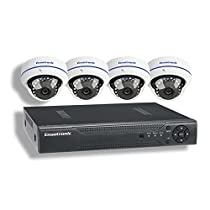 Ensotronic 1080P HD IP PoE Security Camera System, 8 Channel IP PoE NVR and (4) 1080P 2MP Indoor Outdoor Bullet Camera Video Surveillance Kit, 2TB Hard Drive Pre-Installed
