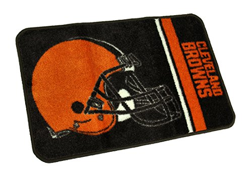 NFL Nylon Area Rugs Cleveland Browns Non-Skid Throw Rug 20 X 30 Inch 30 X 0.38 X 20 Inches Brown