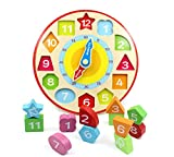 You Xi Wooden Shape Sorting Teaching Clock -Educational Toys