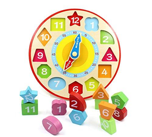 You Xi Wooden Shape Sorting Teaching Clock -Educational Toys by You Xi