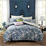 King/Queen 100%Cotton Bed Quilt Cover Single Double Duvet Cover(Only Include Quilt Cover), Sanded Cotton Quilt Cover,Jazz Olive,180×220cm