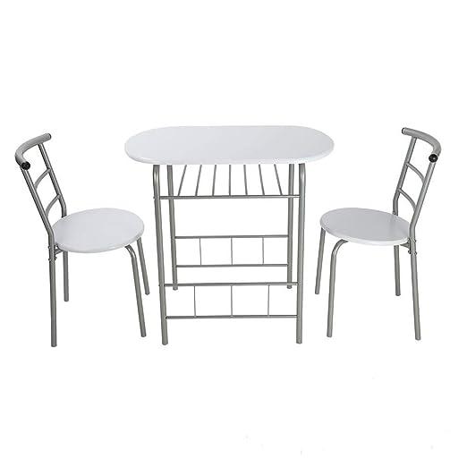 Zoternen Juego de Mesa y sillas de Comedor, 3 Piezas de Tablero DM ...