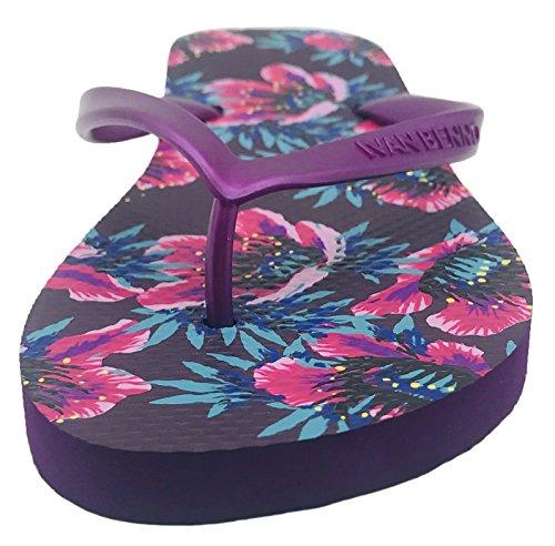 Retro Mulberry Flops Shoes Floral Finoceans Tong Slipper Sandals Beach Women's Slim Flip fSxn8q1Rw
