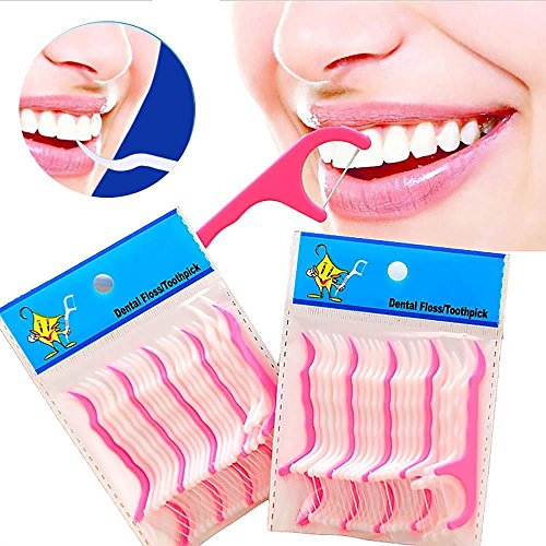Alaigo 250 Count Oral Care Dental Floss Flosser Picks- Te...