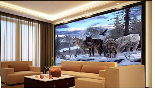 Wxlsl Benutzerdefinierte Fototapete 3D Tapete Wandaufkleber Schnee Wolf Tv Tv Tv Set Wand Home Decor-300Cmx210Cm B07JLL7J7K Wandtattoos & Wandbilder 8bd4db
