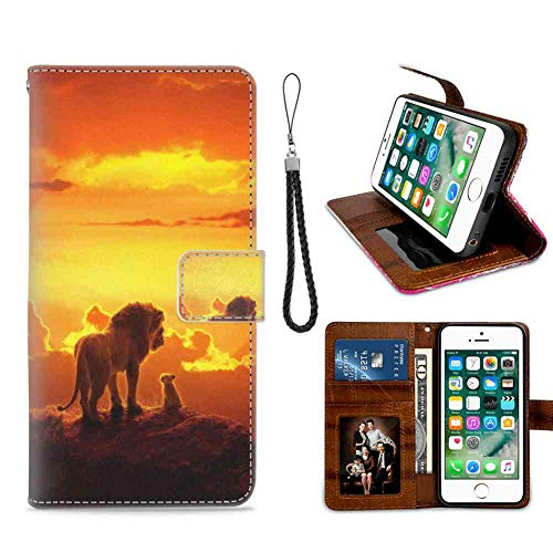 (Movie King Lion Wallet Case Compatible for Apple iPhone 6 Plus/6s Plus [5.5in] Team )
