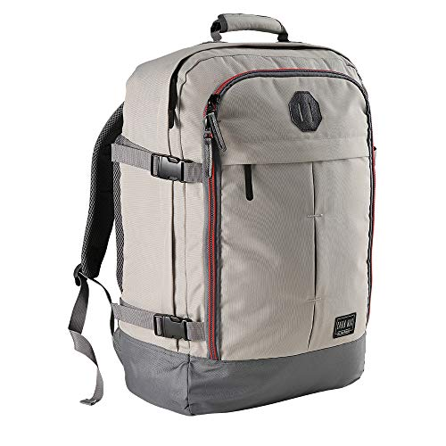 Cabin Max️ Metz Backpack for Men and Women Flight Approved Carry On Luggage Bag Massive 44 Litre Travel Hand Luggage 22x14x9 - Perfectly Sized for Southwest Airlines and More! (Vintage Stone Grey)