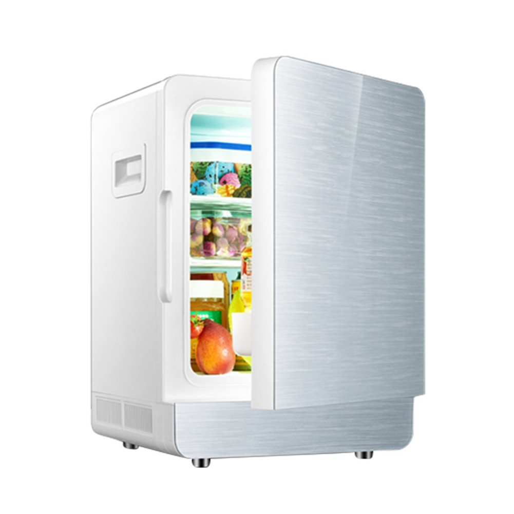 LIQICAI Elektrische Kühlbox 12V 240V Tragbarer Griff, 2 Farben 3 Modelle Optional (Farbe : Silber, größe : Single-core)
