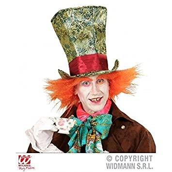 c72b657d7c34c Accesorios de disfraz Sombrero de Sombrerero loco   voluminoso Cilindro de  circo con Cabello  Amazon.es  Juguetes y juegos