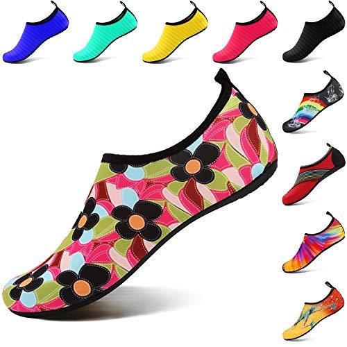 Barefoot Bambino Vifuur Aqua Da Trifoglio Uomo on Sport Per Slip Slip Yoga Acquatici Quick Scarpe dry Donna rIIfqxZ