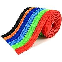 3STAR productos–Set de bloques de construcción autoadhesivo rollo de cinta–6–Compatible con las principales marcas como Lego en bloque, regalo educativo ladrillo cinta para todos los ages. color: rojo, azul, naranja, verde, negro