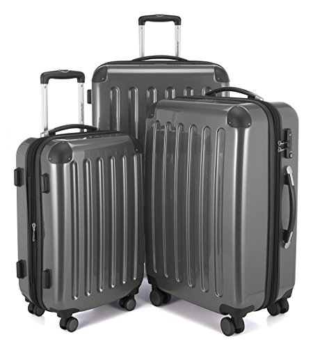 HAUPTSTADTKOFFER Luggages Sets Glossy Suitcase Sets Hardside Spinner Trolley Expandable (20', 24' & 28') TSA Titan by Hauptstadtkoffer