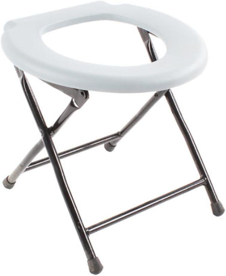 XUAN Drive Medical portátil WC plegable plegable de la cómoda silla de acero que acampa de asiento de inodoro