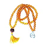 Yoga Crystal Beads Prayer Mala Meditation Japamala Om Pendant Necklace