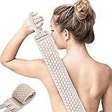 Sportout Back Scrubber,Exfoliating Back Scrubber for Shower Back Washer for Shower for Men and Women Deep Clean (Gray)