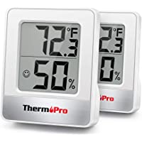 ThermoPro TP49 2 Pieces Digital Hygrometer Indoor Thermometer Humidity Meter Room Thermometer with Temperature and…
