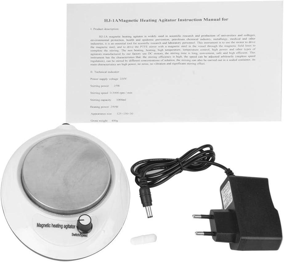 Mezclador agitador magn/ético digital 1L 0-3000 RPM con velocidad Funci/ón de calefacci/ón para utensilios de cocina para el hogar 100-240V UE: 220V