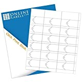 1.25'' x 2'' Printable Scalloped Tags (Cardstock) - 1000 Sheets, 18 Tags Per Sheet = 18,000 Tags Total - Blank White - Laser/Inkjet Compatible - Online Labels
