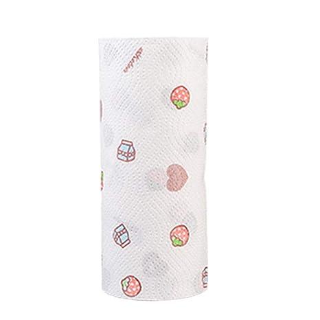 SUPVOX 1 Rollo Papel de Cocina Desechable Reutilizable Paño de Limpieza Toallas de Papel Limpieza Paño