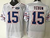 NCAA Men's Football Jersey Florida Gators NO.15 TEBOW WHITE Fashion Football Jersey L
