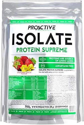 Proactive Aislado Proteína Supreme (fresa-vainilla, 700 g ...