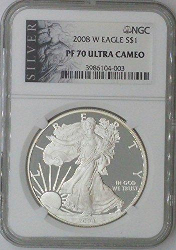 2008 W American Eagle $1 PF70 NGC PF
