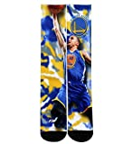 Golden State Warriors 308S Center Court Stephen Curry Mens Sublimated Socks