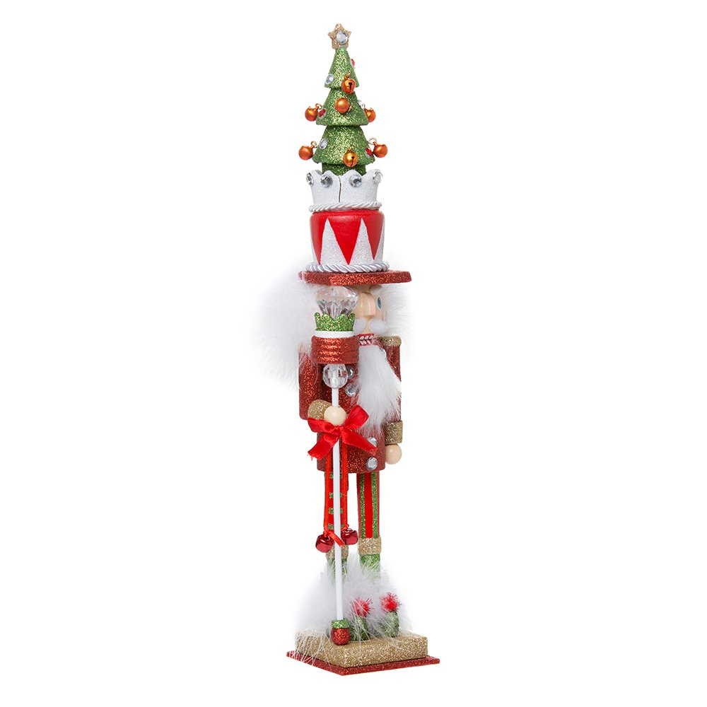 Kurt Adler Hollywood Tree Hat Nutcracker, 15-Inch, Red and Green