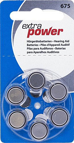 Extra Power Size 675 Zinc Air Hearing Aid Batteries (PR44) (5 Boxes) (300 Batteries) by Extra Power
