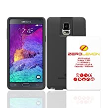 Samsung Galaxy Note 4 Extended Battery, Zerolemon Samsung Galaxy Note 4 10000mAh Tricell Extended Battery + Black Extended TPU Protection Case (Fits All Versions of Galaxy Note 4) - Black