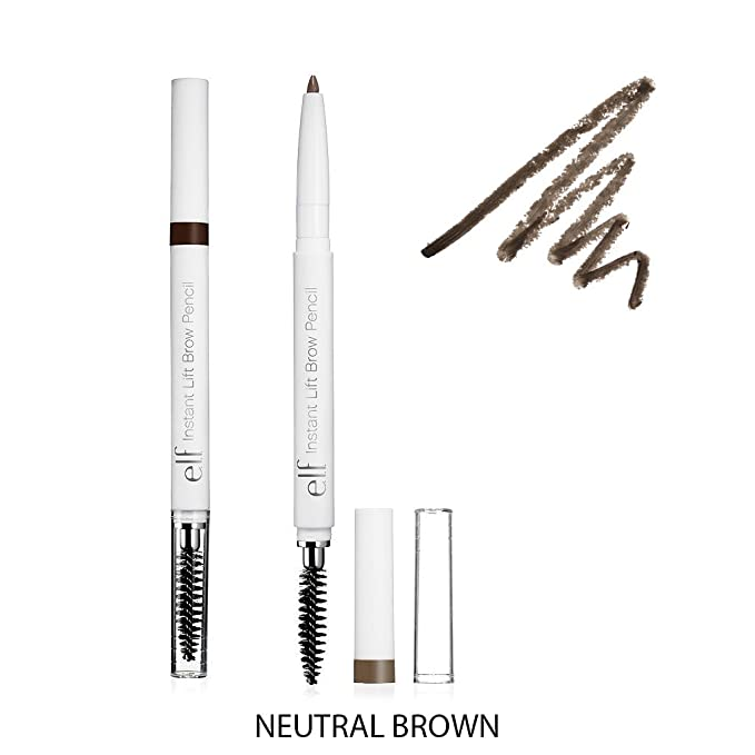 (6 Pack) e.l.f. Essential Instant Lift Brow Pencil - Neutral Brown