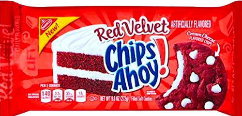 NEW Chips Ahoy! Red Velvet Filled Soft Cookies 9.6 Oz (1) (Nabisco Chocolate Chip Cookies In Red Box)