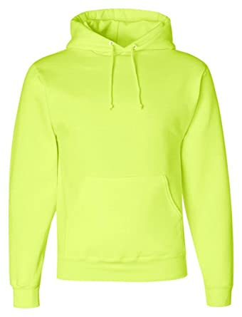 JERZEES NuBlend SUPER SWEATS Hooded Sweatshirt 4997MR Safety Green XXX Large