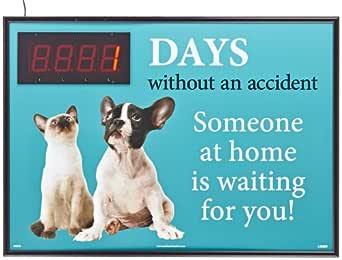"NMC dsb56 Digital marcador, ""XXXX días sin un accidente"