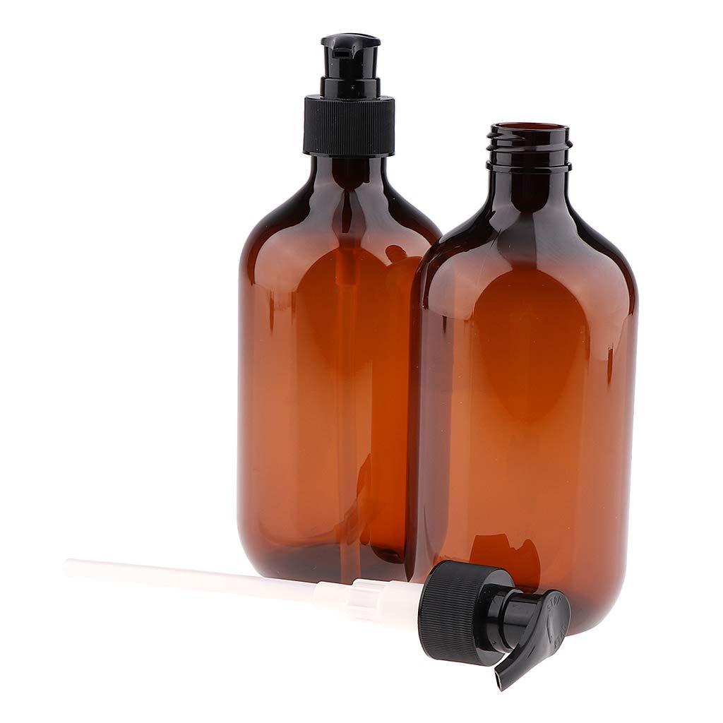 B Blesiya 4pz Bottiglia Shampoo Doccia Ricaricabile Bottiglia in Plastica Elegante per Shampoo Balsamo o Bagnoschiuma