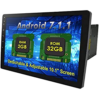 Discount 10.1' Android 7.1 2GB 32GB Double Din Car Stereo Radio with Bluetooth GPS Navigation - Support Fastboot WiFi USB MirrorLink Backup Camera AUX Subwoofer OBD2 Dash Cam