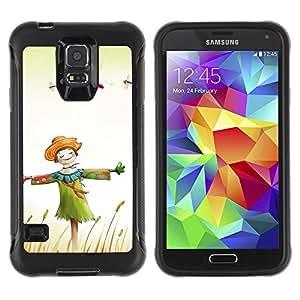 LASTONE PHONE CASE / Suave Silicona Caso Carcasa de Caucho Funda para Samsung Galaxy S5 SM-G900 / Design Happy Scarecrow