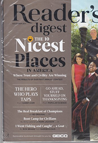 Reader's Digest November 2017 The 10 Nicest Places In (Nicest Place)