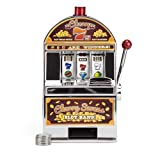 Replica Cherry Sevens Mini Slot Machine Bank with 10 Tokens - Includes 5 Bonus Dice!