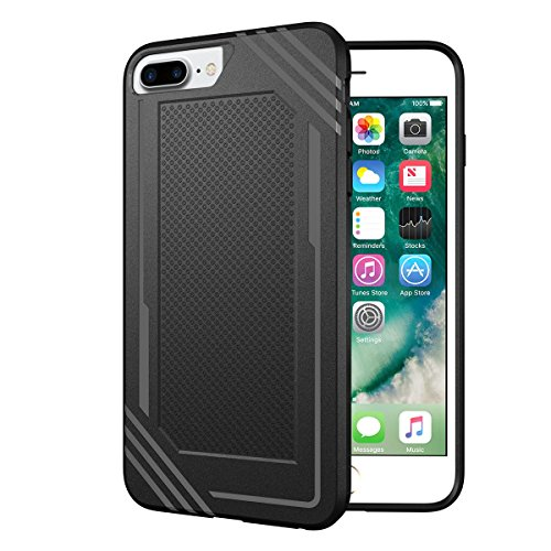 - UBERANT iPhone 6s Plus Case, Slim Fit Rugged PC Heavy Duty Protection Textured Grip Black Cover Case iPhone 6s Plus/iPhone 6 Plus 5.5
