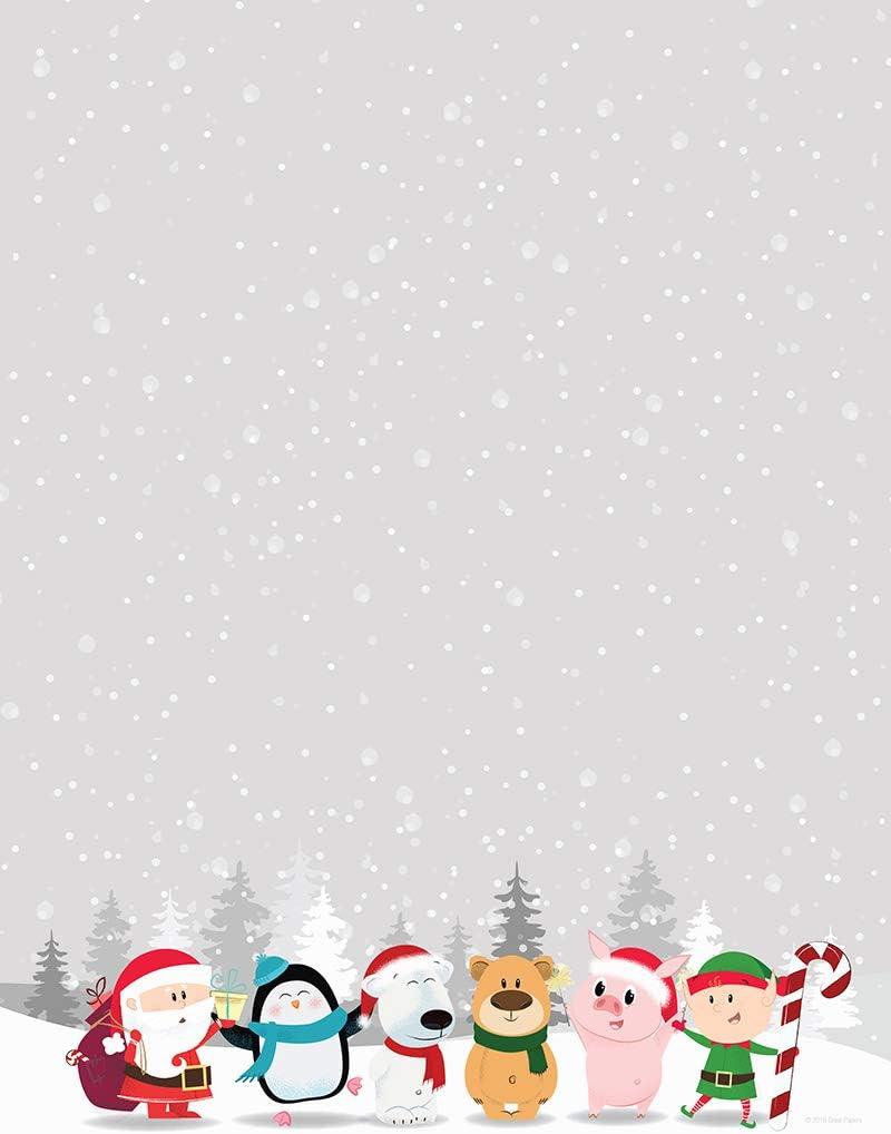 Santas Beard Letterhead 80 Count 8.5 x 11 Great Papers 2019106