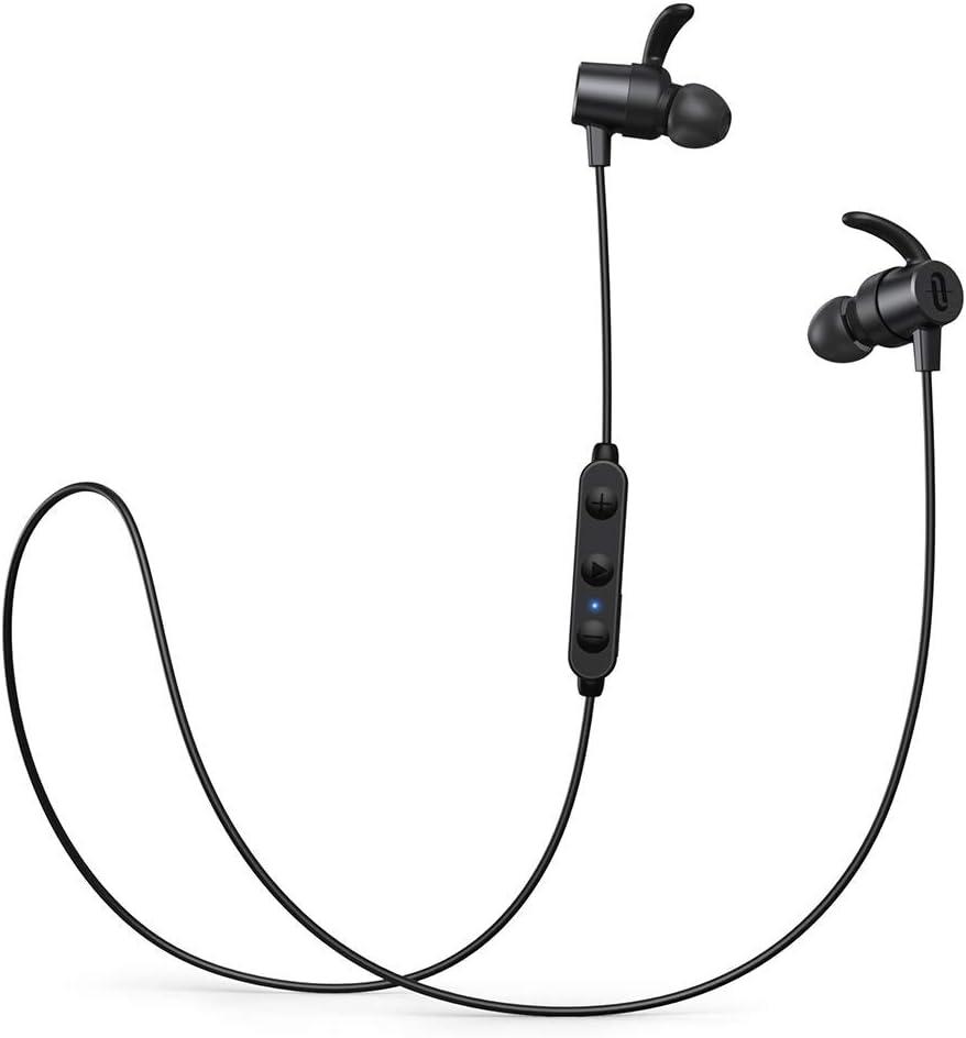 TaoTronics Auriculares Bluetooth 5.0 SoundElite 72 aptX Audio HD 3 EQ Auriculares Deportivos Magnéticos Cancelación de Ruido CVC 8.0 Micrófono Integrado Duración 14 Horas IPX7 A Prueba de Agua