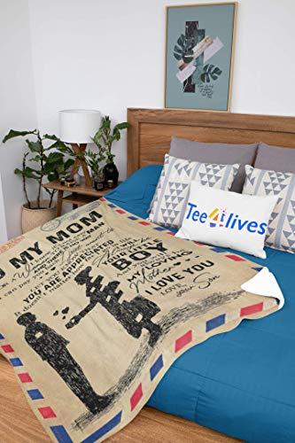 Tee4lives, Custom Blanket Letter to My Mom Blanket - Gift for Mom (Fleece Blanket (30x40))  