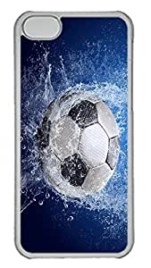 iPhone 5C Case Soccer Ball Awesome PC Custom iPhone 5C Case Cover Transparent